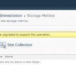 SharePoint Storage Metrics returns in Service Pack 1