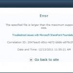 Configure the maximum file upload size