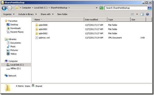 SharePointBackup_Folder1