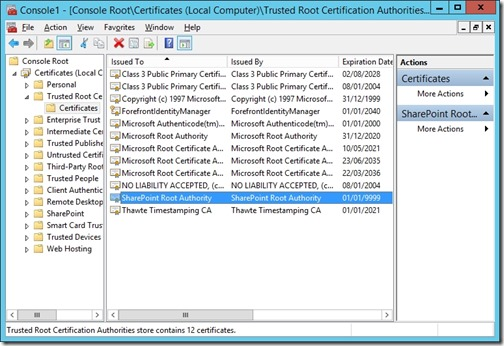 SharePoint_Root_Authority