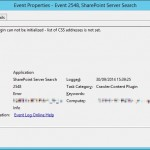 Event ID 2548 - SharePoint Server Search